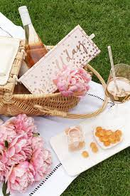 Mother's day wine at a picnic